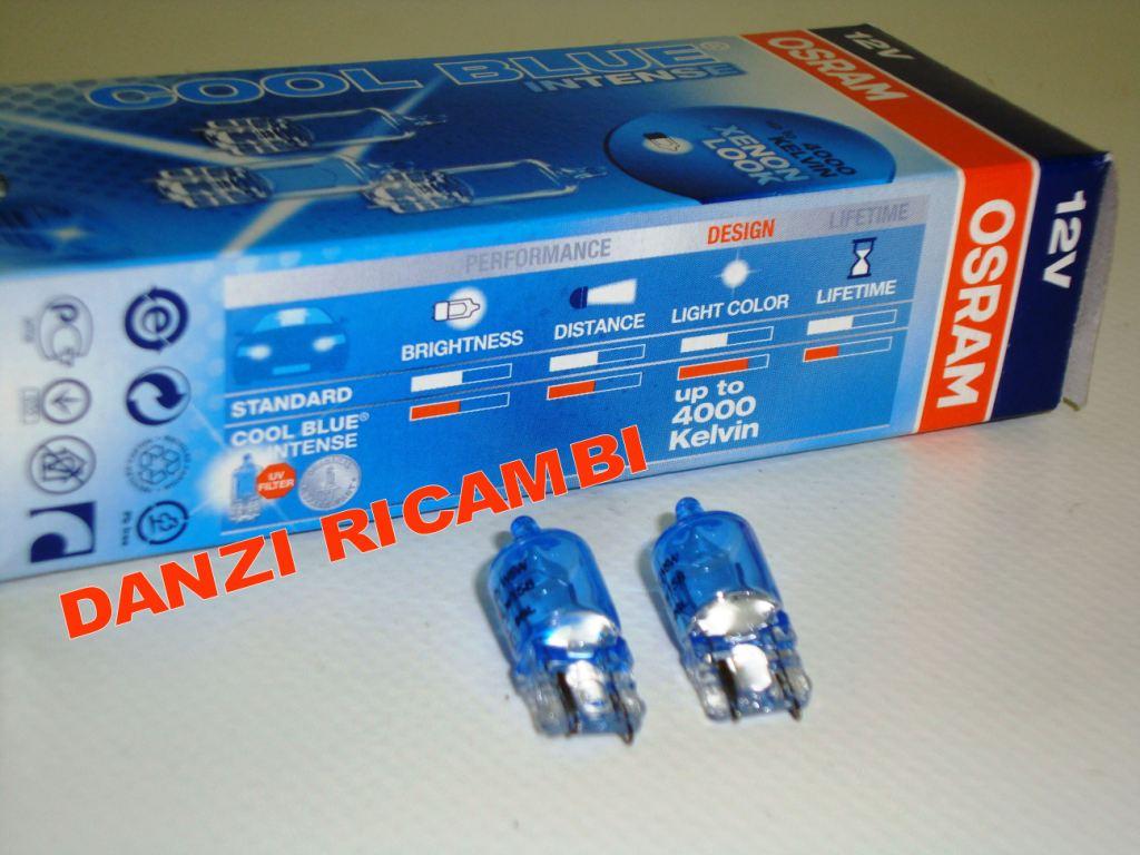 2 LAMPADINE OSRAM COOL BLUE INTENSE XENON LOOK UP TO 4000 KELVIN K POSIZIONE W5W  eBay
