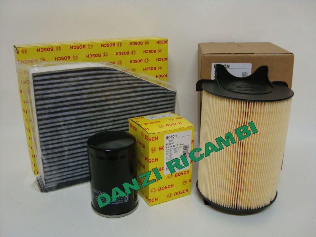 Kit 3 filtri tagliando bosch vw golf 5 v 1 6 benzina for Filtro aria cabina da golf vw
