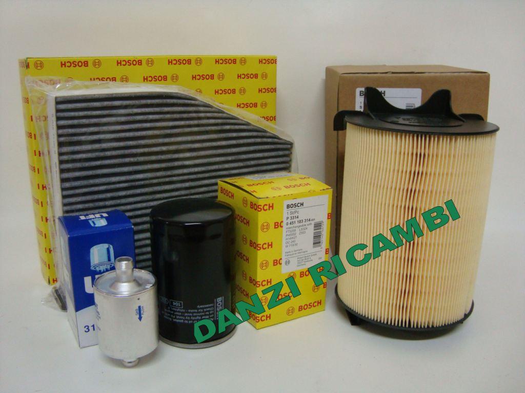 Kit filtri tagliando bosch vw golf 5 v 1 6 benzina bifuel for Filtro aria cabina da golf vw