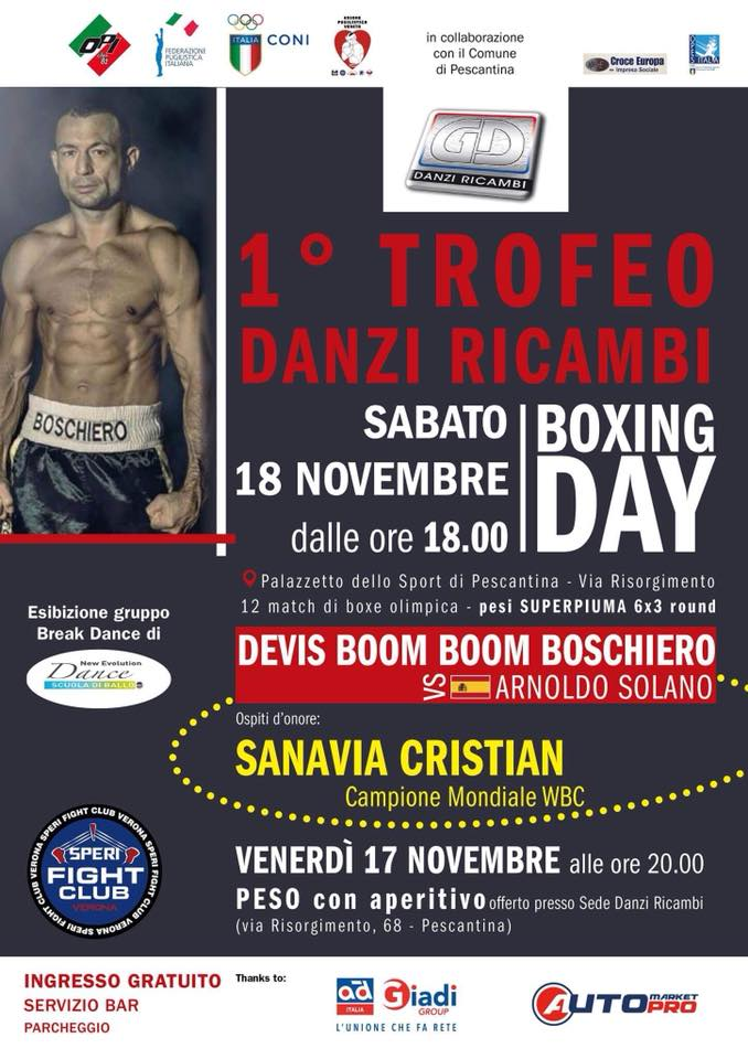 BOXING DAY SABATO 18/11/17